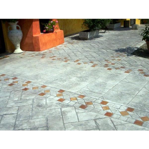 Готовый штамп для декоративного бетона Бордюр Венецианский алмаз F3201